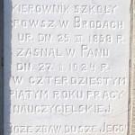 Antoni Leśniak - inskrypcja nagrobna